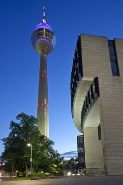 Germany, Rhineland, Dusseldorf, Television Tower, Landtag Building by Chris Seba