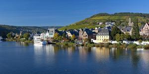 Germany, Rhineland-Palatinate, Bank of Moselle River, Traben, Traben-Trarbach by Chris Seba