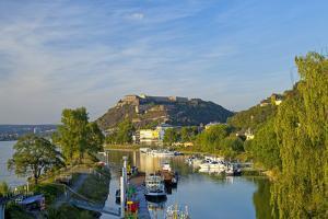Germany, Rhineland-Palatinate, Koblenz, Ehrenbreitstein Fortress, Harbour by Chris Seba