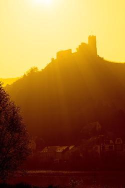 Germany, Rhineland-Palatinate, the Moselle, Bernkastel-Kues, Landhut Castle, Sunrise by Chris Seba