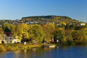 Germany, Rhineland-Palatinate, the Moselle, Konz, Saar Shore, Autumn Colours, Evening Light by Chris Seba