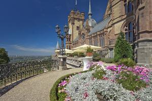Germany, Siebengebirge, Bonn, Kšnigswinter, Drachenburg Castle, Panorama Terrace, the Rhine by Chris Seba