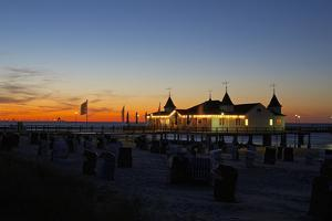 Germany, the Baltic Sea, Island Usedom, Ahlbeck, Pier, Evening Mood by Chris Seba