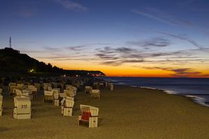 Germany, the Baltic Sea, Island Usedom, Heringsdorf, Beach, Evening Mood by Chris Seba