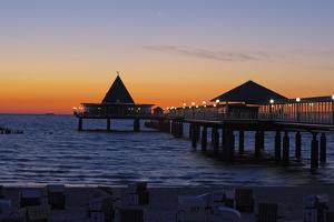 Germany, the Baltic Sea, Island Usedom, Heringsdorf, Beach, Pier, Morning Mood by Chris Seba