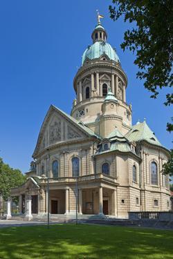 Germany, the Rhine, Baden-WŸrttemberg, Mannheim, City Centre, Christ's Church by Chris Seba