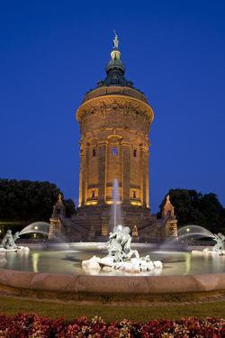 Germany, the Rhine, Baden-WŸrttemberg, Mannheim, City Centre, Water Tower by Chris Seba