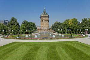 Germany, the Rhine, Baden-W?rttemberg, Mannheim, City Centre, Water Tower by Chris Seba