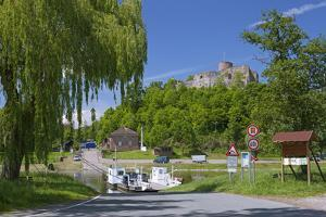 Germany, Weserbergland (Weser Mountainous Country), Lower Saxony, Polle, Weser Ferry by Chris Seba