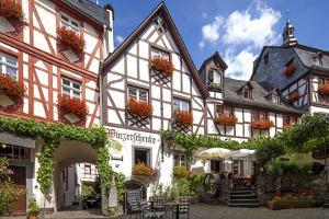 Half-Timbered Houses, City Centre, Beilstein, Moselle River, Rhineland-Palatinate, Germany by Chris Seba