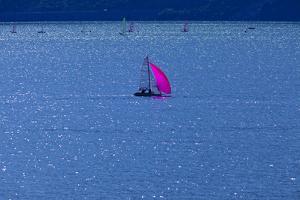 Italy, Lake Garda, Sailboat, Northern Italy, South Tirol, Lake, Waters, Boat, Sailing, Surfer by Chris Seba