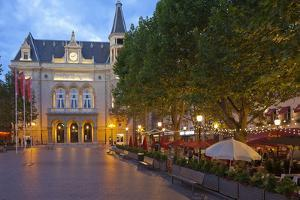 Luxembourg, Capital of Luxembourg, City Palais, Gastronomy, Dusk by Chris Seba