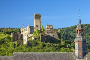 Metternich Castle About Saint Josef Church, Beilstein, Moselle River, Rhineland-Palatinate, Germany by Chris Seba