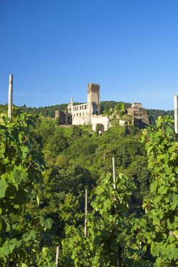 Metternich Castle About Vineyards, Beilstein, Moselle River, Rhineland-Palatinate, Germany by Chris Seba