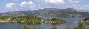 Norway, Lysefjord, Coast, Lake, Island by Chris Seba