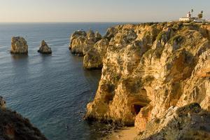 Portugal, Algarve, Lagos, Ponta There Piedade, Rock Coast by Chris Seba