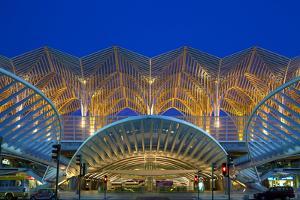 Portugal, Lisbon, Expo Area, Central Railway Station, Dusk by Chris Seba