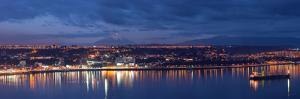 South America, Chile, Patagonia, Pacific Coast, Puerto Montt, Harbour Bay, Evening Light, Freighter by Chris Seba