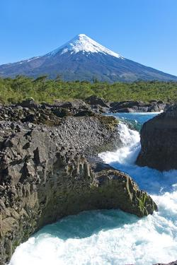 South America, Chile, Patagonia, Petrohue National Park, Volcano Osorno by Chris Seba