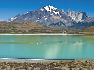 South America, Chile, Patagonia, Torres Del Paine National Park, Mountain Landscape by Chris Seba
