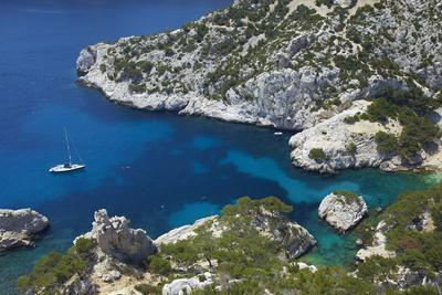 South of France, Mediterranean Coast, Chalk Rocks, Les Calanques, Bath Bay