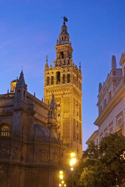 Spain, Andalusia, Seville, Cathedral Giralda, Bell Tower, Plaza Del Triunfo by Chris Seba