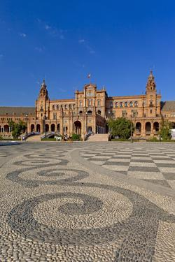 Spain, Andalusia, Seville, Plaza De Espana, Palacio Central by Chris Seba