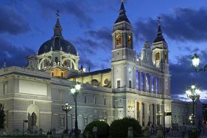 Spain, Madrid, Cathedral Nuestra Senora De Alpudena, Twilight by Chris Seba