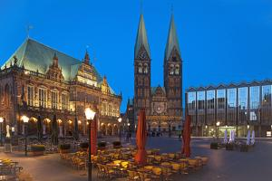 Town Hall, Cathedral, Town Hall Square, Bremen, Germany, Europe by Chris Seba