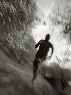 African American Male on a Training Run, New York, New York, USA by Chris Trotman