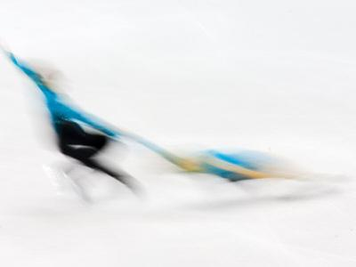 Blurred Action of Pairs Figure Skaters, Torino, Italy by Chris Trotman