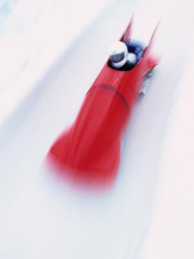 Blurred Action of Two Man Bobsled, Park City, Utah, USA by Chris Trotman