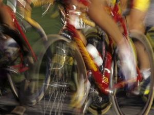 Detail of Blurred Cycling Action by Chris Trotman