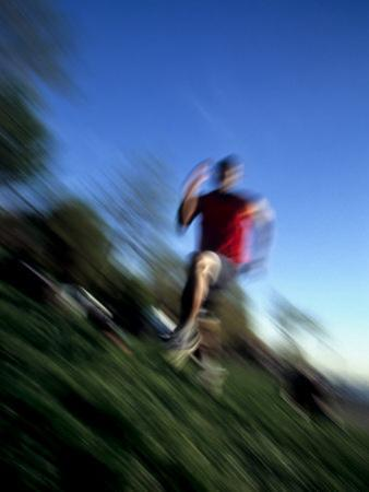 Male Runner Out for a Fitness Run, New York, New York, USA by Chris Trotman