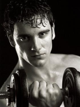 Man Working Out with Hand Wieghts, New York, New York, USA by Chris Trotman