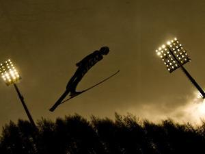 Ski Jumper in Action, Torino, Italy by Chris Trotman