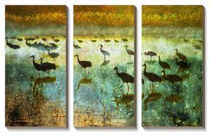 Cranes in Soft Mist I by Chris Vest