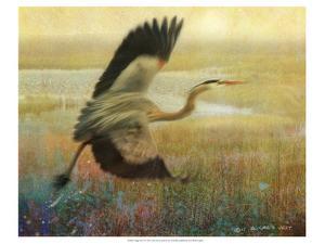 Foggy Heron I by Chris Vest