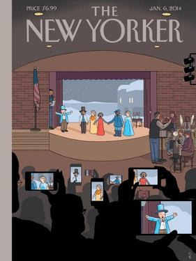 All Together Now - The New Yorker Cover, January 6, 2014 by Chris Ware