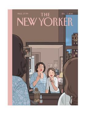 The New Yorker Cover - December 7, 2015 by Chris Ware