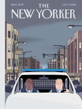 The New Yorker Cover - October 3, 2016 by Chris Ware