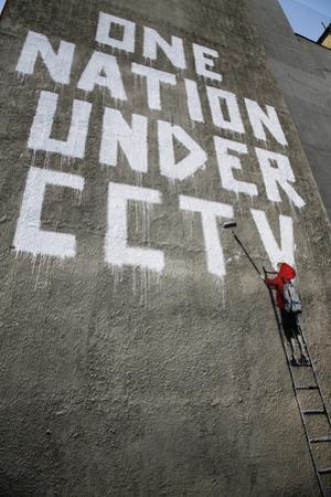 Banksy Graffiti One Nation under Cctv by chrisd2105