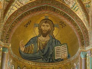 Christ Pantocrator Mosaic at Cathedral of Cefalu