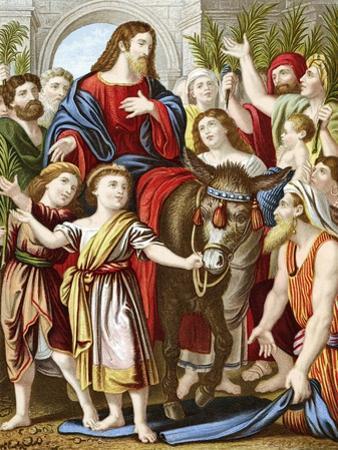 Christ Riding into Jerusalem on an Ass, C1860