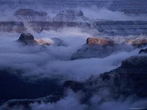 Cloudy, Winters Morning on the South Rim, Grand Canyon National Park, Arizona by Christer Fredriksson