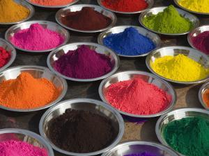 Colurful Holi Festival Powders by Christer Fredriksson