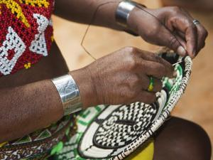 Embera Indian Woman Weaving Basket by Christer Fredriksson