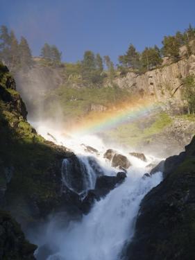 Latefossen Waterfall Near Odda by Christer Fredriksson