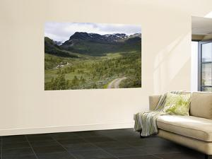Mountain Landscape with Fjells and Stream in Summer by Christer Fredriksson