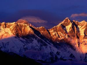 Mt. Everest and Lhotse, Sagarmatha, Nepal by Christer Fredriksson